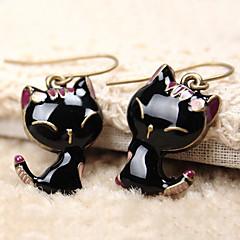 Kadın Damla Küpeler sevimli Stil kostüm takısı Reçine alaşım Animal Shape Kedi Mücevher Uyumluluk Günlük