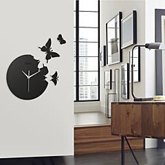 蝶アクリルミュート柱時計