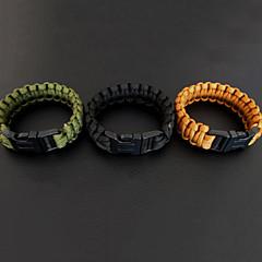 Survival Armband Wandelsport Overleving Groen / Zwart / Bruin