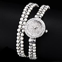 diamant perles cadran bande quartz analogique montre bracelet des femmes (couleurs assorties)