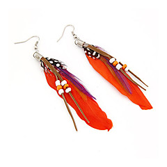 Feather Drop Earrings(Assorted Color)