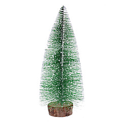 "28cm 11"" Frosted Pine Christmas Tree Desk Top Ornaments"