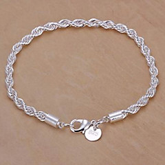 Silver Plated Copper Chain armbånd