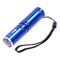 KX-H60 Cree XP-E R2 210LM 3-Mode Blanc Zoom lampe de poche - Bleu (1 x 14500 / 1x AA)
