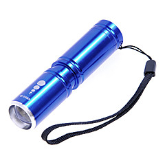 KX-H60 Cree XP-E R2 210LM 3-Mode White Zoom Flashlight - Blue(1 x 14500 / 1x AA)