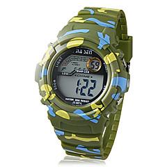 barn lcd digitala multifunktionella kamouflage gummiband armbandsur (blandade färger)