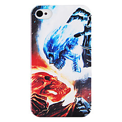 Red Blue Skull Back Case for iPhone 4/4S