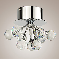 Max 20W Flush Mount ,  Modern/Contemporary Chrome Feature for Crystal / Mini Style Metal Living Room / Bedroom / Dining Room