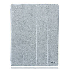 Ultrathin Oblique Crossing Line Protector 4 Folded Cover PU Leather Case for iPad 2