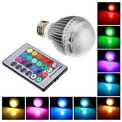 Lâmpada Redonda Controle Remoto E26/E27 9 W RGB LM K RGB LED Integrado AC 85-265 V