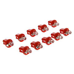 B8.5D 1-LED 10-20LM Red Light LED pære for bil (12V, 10stk)