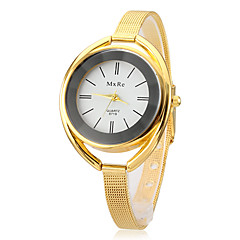 Femenino Ronda de aleación Dial Gracile banda de cuarzo reloj de pulsera analógico (colores surtidos)