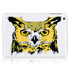 Coloured Drawing Owl Head Plastic Back Case for iPad mini 3, iPad mini 2, iPad mini