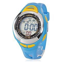 للأولاد ساعة رياضية كوارتز LCD فرقة أسود / أزرق Brand-