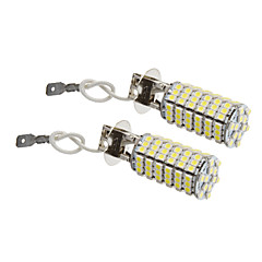 H3 8W 118x3528SMD 660LM 5500-6500K Cool White Light LED-lampa för bil (12V, 2st)