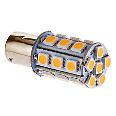 BAY15D/1157 4W 24x5050SMD 216LM 3000-3500K Warm White Light LED-lamppu auton (DC 12V)