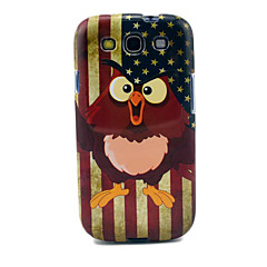 Vintage Vlag Amerikaanse Uilen Glossy TPU Soft Cover Case voor Samsung Galaxy S3 I9300