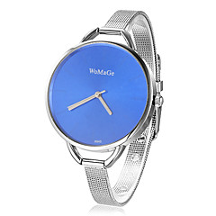 Women's Concise Style Round Dial Steel Band Quartz Analog Wrist Watch (Assorted Colors)