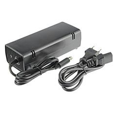 xbox 360e adaptador de CA (enchufe de los EEUU) con cable negro de plástico 1 adaptador, 1 cable