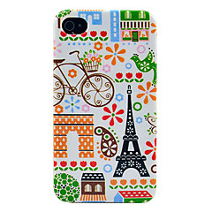 Eiffel tower & House Pattern Glossy TPU Imd Case for iPhone 4/4S