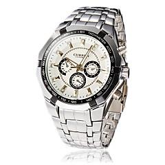 Men's Round Dial Steel Band Quartz Analog Wrist Watch (Assorted Colors) Cool Watch Unique Watch
