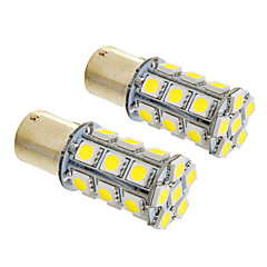 1156/BA15S 6W 24x5050SMD 490LM 5500-6500K Cool White Light Bulb LED para carro (12V, 2pcs)