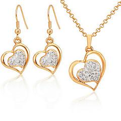 U7® 18K Gold Plated Austrian SWA Rhinestone Shamballa Hearts Jewelry Sets Jewellery Gift For Women