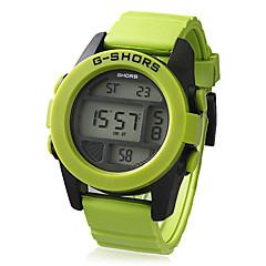 Unisex plástico redondo LCD Digital Dial Silicone relógio de pulso Band (cores sortidas)