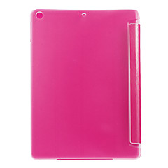 Toothpick Grain Front Cover and Transparent Back Cover Case with Stand for iPad Air (Assorted Colors)