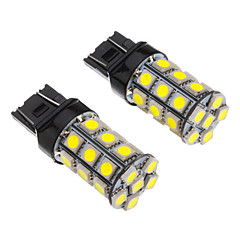 2st T20 7443 27x5050SMD 100-250LM White Light LED Bulb för bil (12V)