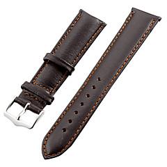 banda unisex reloj de cuero de 20 mm (marrón)