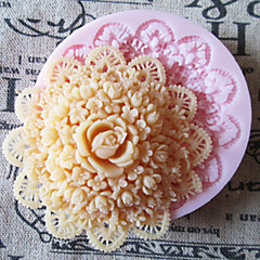 3D Round Flower Silicone Mold Fondant Molds Sugar Craft Tools Chocolate Mould  For Cakes