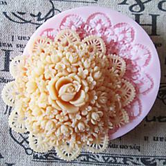 3-й раунд цветок силиконовые формы помадные формы сахарного ремесленные инструменты формы шоколада для тортов
