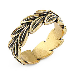 (1 Pc) Stylish Retro Coppery Dog's Tail Grass Ring (Assorted Colors)