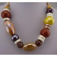 Fashion Retro Glazed Pottery Necklace for Women