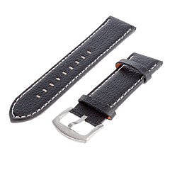 Uomo 25 millimetri Leather Watch Band (nero)