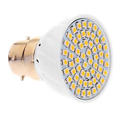 5W B22 LED Spotlight 60 SMD 3528 420 lm Warm White AC 220-240 V