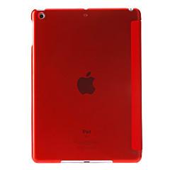 Solid Culoare trei ori, PU completa Corp caz cu Stand pentru iPad Air (culori asortate)