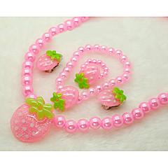 Sieraden 1 Ketting 1 Paar Oorbellen 1 Armband 1 Ring Feest Parel 1 Set 5 stuks Meisjes Roze Giften van het Huwelijk