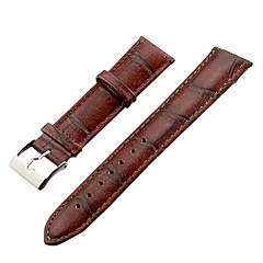 Unisex 20mm Craquelure ziarna Skóra Watch Band (brązowy)