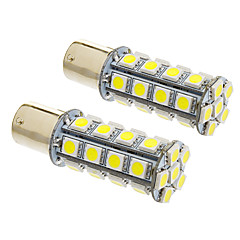 1156/BA15S 7W 30x5050SMD 570LM 5500-6500K Cool White Light LED Bulb for Car (12V,2pcs)