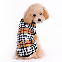 Dog Sweater Brown Winter Plaid/Check