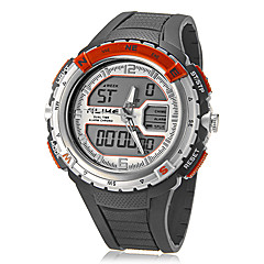 Men's Multi-Functional Analog-Digital Dial Rubber Band Quartz-LCD Wrist Watch (Assorted Colors)