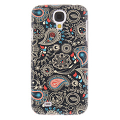 Svart Spray målning mönstrar plast Hard Back Case Cover för Samsung Galaxy S4 I9500