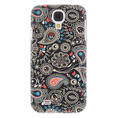 Preto pintura de pulverizador padrão plástico rígido caso capa Voltar para Samsung Galaxy i9500 S4
