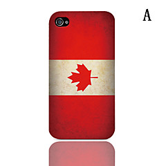 Vintage The Mexican Flag Pattern Hard Case with 3-Pack Screen Protectors for iPhone 4/4S