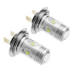 Araba için H7 25W Cree 1400LM 5500-6500K Soğuk Beyaz Işık LED Ampul (12V-24V, 2adet)
