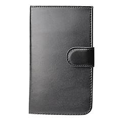 caso dobro dobra carteira de couro preto com slot para cartão de Samsung Galaxy S3 i9300 i9308