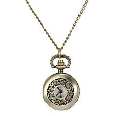 Women's Hollow Flower Cover Vintage Alloy Quartz Analog Necklace Watch Cool Watches Unique Watches