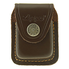Zippo Brown Leather Öl leichter Fall